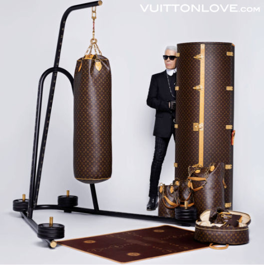 Louis Vuitton Karl Lagerfeld Monogram Canvas Punching Bag 1