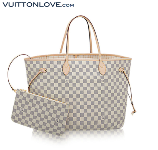 Louis Vuitton Neverfull Damier Azur Canvas Vuitton Love 1