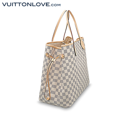 Louis Vuitton Neverfull Damier Azur Canvas Vuitton Love 2