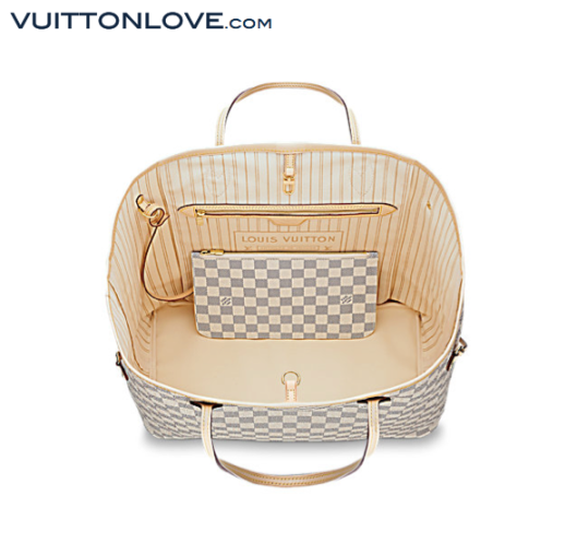 Louis Vuitton Neverfull Damier Azur Canvas Vuitton Love 3
