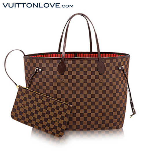 Louis Vuitton Neverfull Damier Ebène Canvas Vuitton Love 1