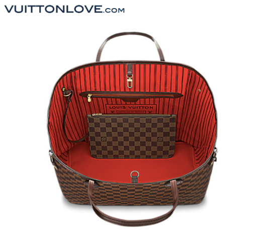 Louis Vuitton Neverfull Damier Ebène Canvas Vuitton Love 3