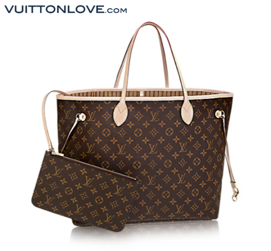 Louis Vuitton Neverfull Monogram Canvas Vuitton Love