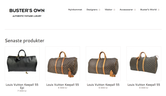 Buster's Own Luxury Vintage Louis Vuitton Keepall Vuitton Love