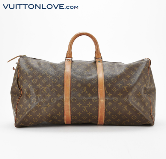 Louis Vuitton Keepall 55 Monogram Canvas Vuitton Love 2
