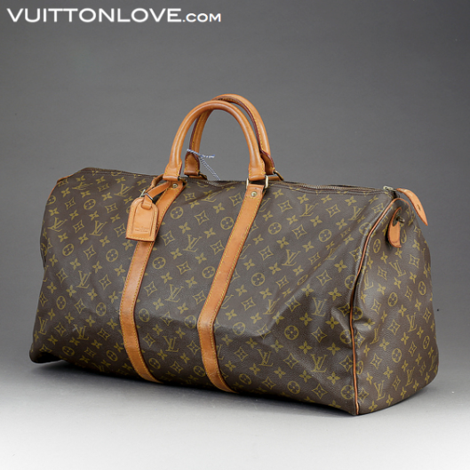 Louis Vuitton Keepall 55 i Monogram Canvas Vuitton Love ID 1007 1
