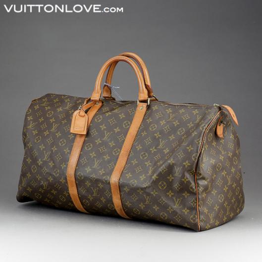 Louis Vuitton Keepall 55 i Monogram Canvas Vuitton Love ID 1007 1