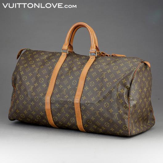 Louis Vuitton Keepall 55 i Monogram Canvas Vuitton Love ID 1007 3