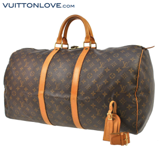 Louis Vuitton Keepall 55 Monogram Canvas Vuitton Love 1