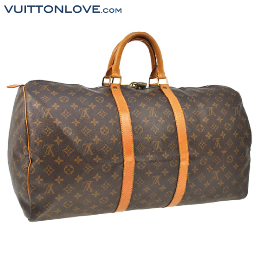 Louis Vuitton Keepall 55 Monogram Canvas Vuitton Love 4