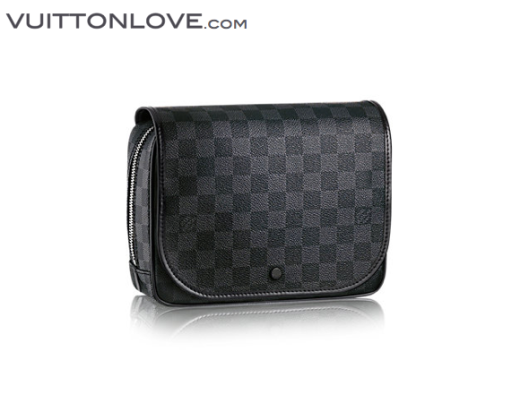 Louis Vuitton Hanging Toiletry Kit necessar Damier Graphite Canvas 1