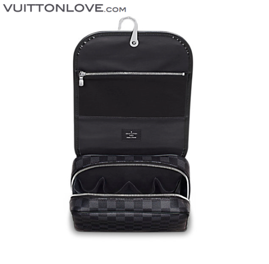 Louis Vuitton Hanging Toiletry Kit necessar Damier Graphite Canvas 2