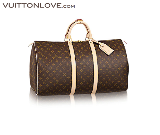 Louis Vuitton Keepall 55 Monogram Canvas Vuitton Love