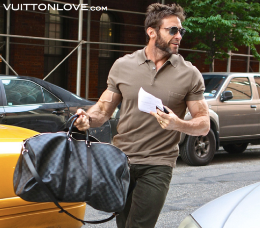 Louis Vuitton Keepall Damier Hugh Jackman Vuitton Love
