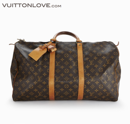 Louis Vuitton vaska Keepall 50 Monogram Canvas Vuitton Love 1
