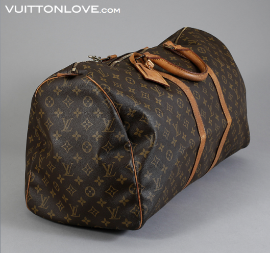 Vintage Louis Vuitton Keepall 55 väska Monogram Canvas Vuitton Love