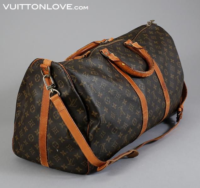 4d88ccdbfc95 Vintage Louis Vuitton Keepall Bandoulière väska Monogram Canvas Vuitton Love