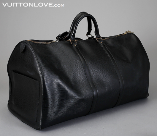 Vintage Louis Vuitton väska Keepall 60 Epi Svart Vuitton Love