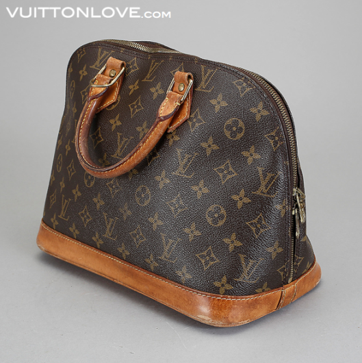Louis Vuitton handväska Alma Monogram Canvas Vintage Vuitton Love