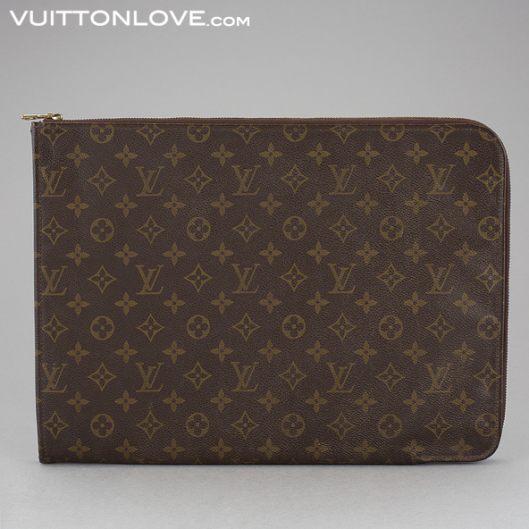 Vintage Louis Vuitton dokumentmapp Poche Documents Monogram Canvas Vuitton Love