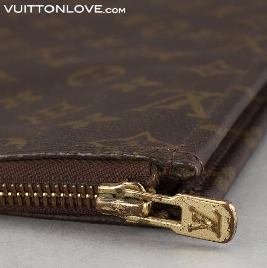 Vintage Louis Vuitton dokumentmapp Poche Documents Monogram Canvas Vuitton Love