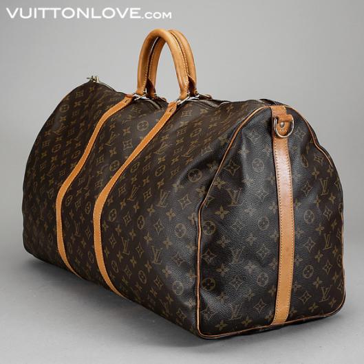 Vintage Louis Vuitton väska Keepall 60 Bandouliere Monogram Canvas Vuitton Love