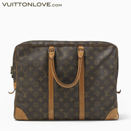 Vintage Louis Vuitton väska portfölj Porte-Documents Monogram Canvas Vuitton Love
