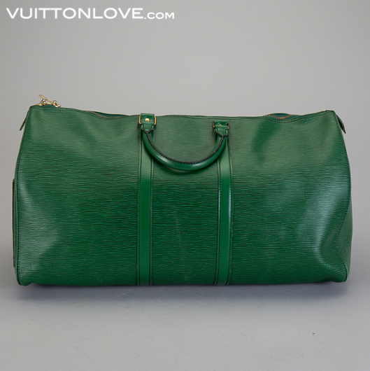 Vintage Louis Vuitton weekend väska Keepall Epi Vuitton Love