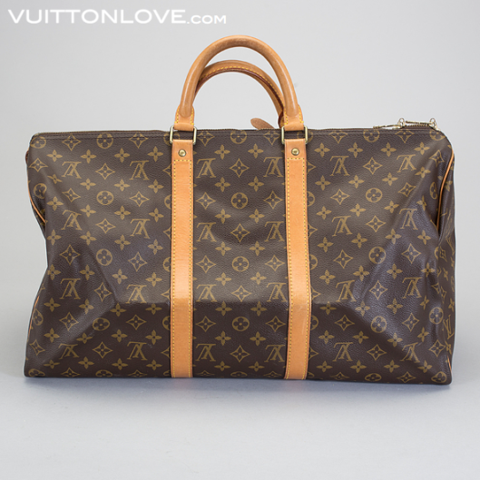 Vintage Louis Vuitton Keepall weekendbag väska Monogram Canvas Vuitton Love