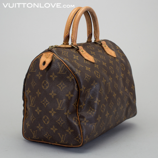 Vintage Louis Vuitton handväska Speedy 30 Monogram Canvas Vuitton Love