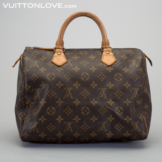 Vintage Louis Vuitton handväska Speedy 30 Monogram Canvas Vuitton Love