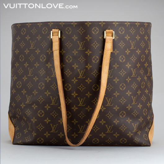 Vintage Louis Vuitton väska Neverfull Cabas Alto Monogram Canvas Vuitton Love