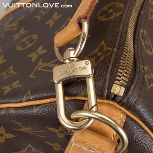 Louis Vuitton väska Keepall 45 Monogram Canvas axelrem Bandoulière Vuitton Love
