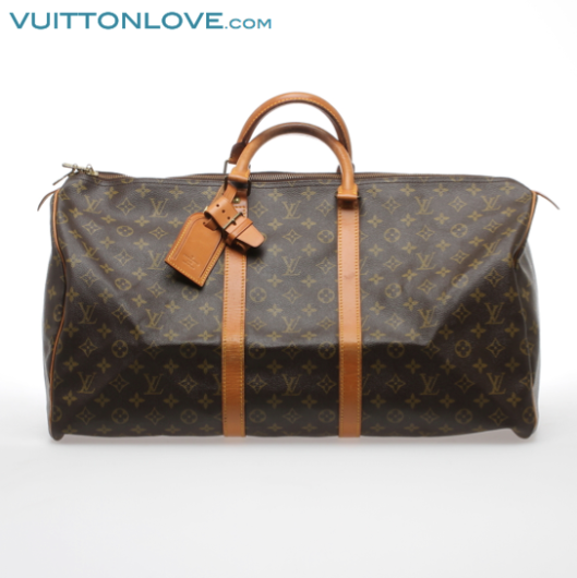 Vintage Louis Vuitton väska Keepall 55 Monogram Canvas Vuitton Love