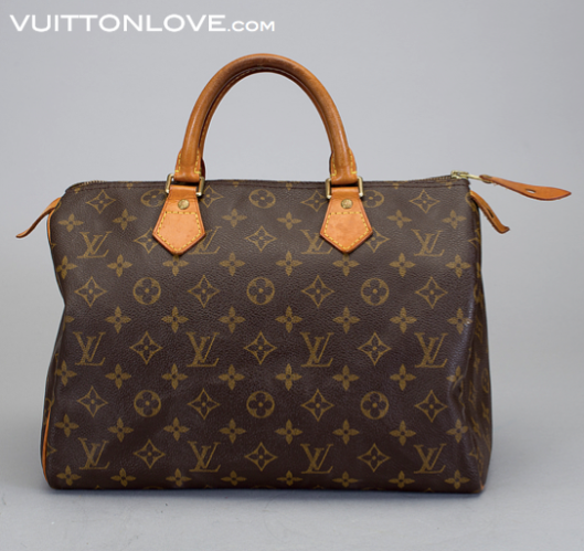 Vintage Louis Vuitton väska Speedy 30 Monogram Canvas Vuitton Love