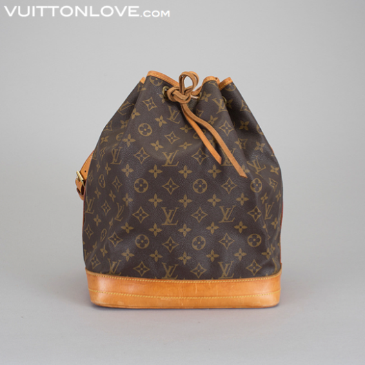 Vintage Louis Vuitton axelväska handväska NoéMonogram Canvas Vuitton Love