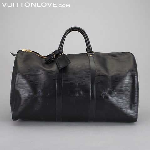 Vintage Louis Vuitton väska Keepall Epi läder Vuitton Love