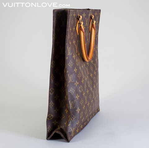 Vintage LV Louis Vuitton väska Sac Plat Monogram Canvas Vuitton Love