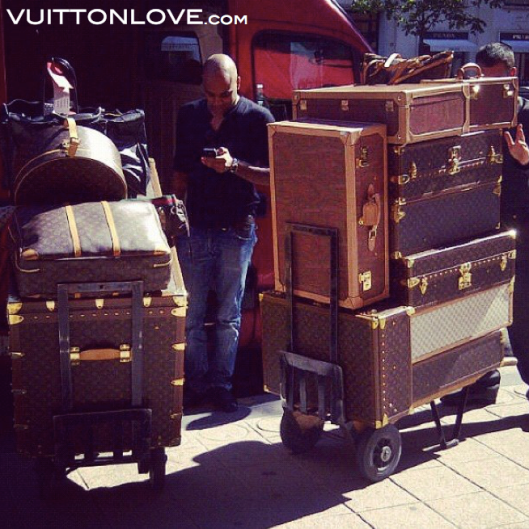 Vintage Louis Vuitton Alzer Bisten Cotteville Trunk Luggage Vuitton Love