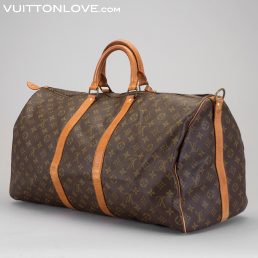 Vintage Louis Vuitton Keepall Weekendbag Weekend Väska Monogram Canvas Vuitton Love