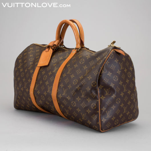 Vintage Louis Vuitton Keepall Weekendväska Monogram Canvas Vuitton Love