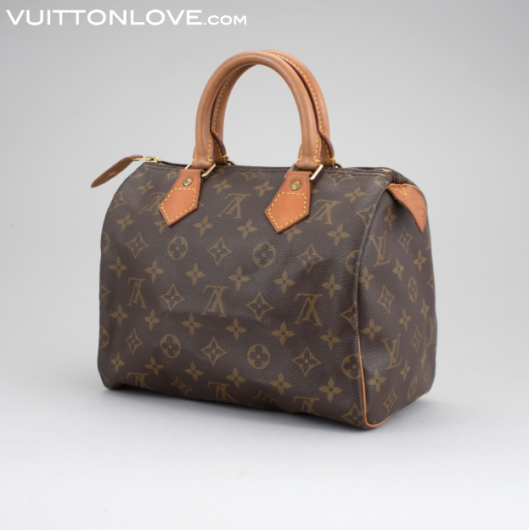 Vintage Louis Vuitton Speedy Handväska Monogram Canvas Vuitton Love